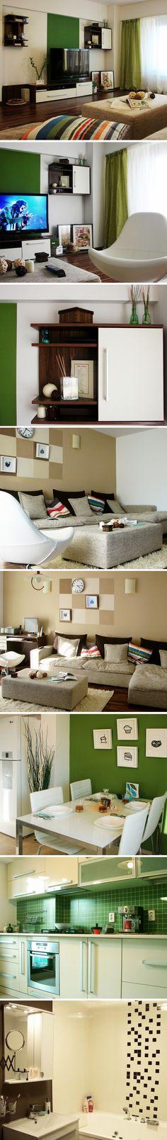 One room apartment Interior Design