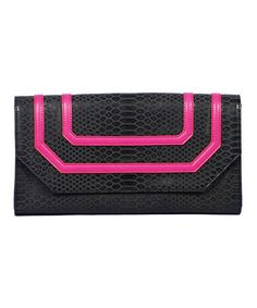 Take a look at this Pink Tory Clutch by Vieta on #zulily today!