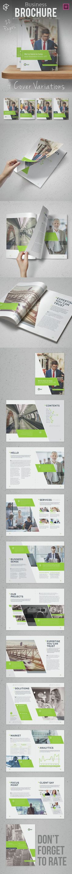 20 Pages Business Brochure Template InDesign INDD. Download here: http://graphicriver.net/item/business-brochure-vol-1/15373578?ref=ksioks