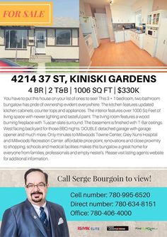 MOVE TO KINISKI GARDENS TODAY! http://mvnt.us/m280675  4 bedrooms 3 baths and 1006 sq ft of living space for only $330000! That translates to a $328.03 per square footage value for your money. Read: Best Value!  #homesforsaleedmonton #edmontonrealestate #edmontonproperties  #edmontonhousesforsale #teamleadingedge #findmyhouse #kiniskigardens | Visit us at FindMyHouse.ca | Powered by Team Leading Edge