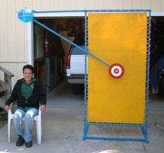 Poor Man's Dunk Tank - I like that the target is off to the side and has a backstop