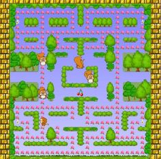 Monkey Vs squirrels! Guide Monkey around the maze eating the Peaches and avoiding the squirrels. Eating the Power Bananas will allow you to eat the squirrels for a limited time. Eat the fruits for bonus points.