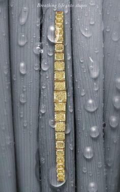 Diamond Bracelets, Gemstone Bracelets, Bangle Bracelets, Bangles, Canary Diamond, Diamond Dreams, Grey And Gold, Colored Diamonds, Beautiful Things