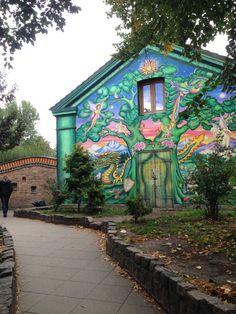 christiania hippie commune in christianshavn, copenhagen, denmark