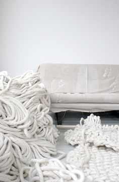 Whoa, cleaning such carpet can be quite a task... If you need help with this DIY Giant Knit Carpet, just call Excellent Carpet Cleaning specialist on 020 3404 0500