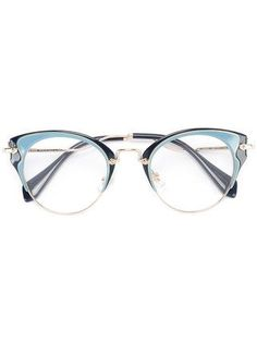 66aefa5fc09d Miu Miu Eyewear Cat Eye Glasses - Farfetch