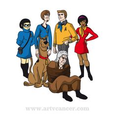 Not sure who Shaggy's supposed to be, but I'm pretty sure neither of the men would be smart enough to get into Starfleet.