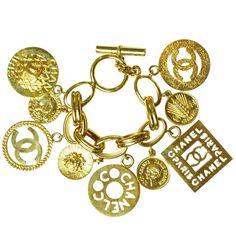 CHANEL Gold Charm Bracelet (via @1stdibs)