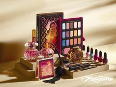 Eye shadow, perfume and nail polish from the Disney Jasmine Collection by Sephora