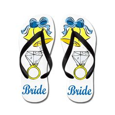 Zhiqing Customized the Wedding Bride Summer Beach Soft Lightweight Rubber Flip Flops -- Read more reviews of the product by visiting the link on the image. (This is an affiliate link and I receive a commission for the sales)