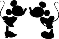 Mickey and Minnie Kiss. Very cute disney mickey cut file for silhouette cameo. Made In Wonderland By Alice: Gratis fil til silhouette cameo Silhouette Mickey Mouse, Kissing Silhouette, Silhouette Clip Art, Silhouette Cameo Projects, Free Silhouette, Princess Silhouette, Silhouette Cameo Disney, Plane Silhouette, Castle Silhouette