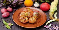Káprázatos burgonyás finomság, ennél finomabb köretet még nem készítettem! - Bidista.com - A TippLista! Sprouts, Ale, Bacon, Vegetables, Food, Vegetable Recipes, Eten, Ales, Veggie Food