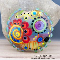 Faraway Art Glass bead by Michou P. Anderson by michoudesign