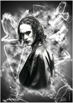 the crow -brandon lee- by Dragona Brandon Lee, Bruce Lee, The Crow Quotes, Normal Movie, Crow Movie, Crow Art, Star Wars, Book Cover Art, Love Tattoos