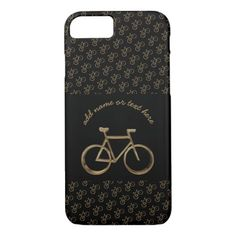 Elegant Black Gold Bike Bicycle Pattern Cycling iPhone 8/7 Case   cycling art, cycling kit, cycling workout benefits #liegebastogneliege #Chimpeur #VictoryChimp, 4th of july party Motorcycle Tattoos, Motorcycle Tips, Motorcycle Outfit, Iphone 8, Apple Iphone, Iphone Cases, Womens Cycling Kit, Biker Shirts, Road Bike Women
