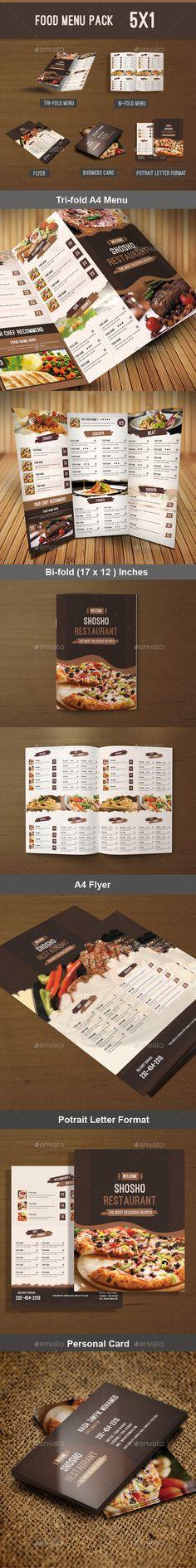 Food Menu Pack Template #design #print Download: http://graphicriver.net/item/food-menu-pack/12005905?ref=ksioks