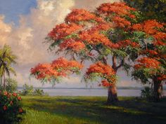 """The Best of Backus"" opens in Palm Beach -- posted by Florida Fine Art Oil Painting Pictures, Pictures To Paint, Kinkade Paintings, Art Basics, Caribbean Art, Mosaic Pictures, Flamboyant, Tropical Art, Beach Art"