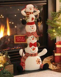 Let It Snow Stacked Snowmen | Kirkland's So cute!