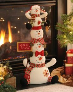 Let It Snow Stacked Snowmen | Kirkland's So cute!