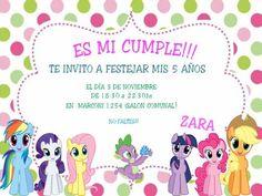 Tarjetas de cumpleaños de my little pony para imprimir - Imagui