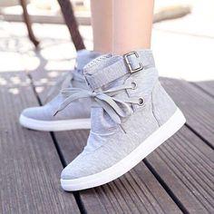 Femmes chaussures bottes toile chaussures 2015 nouvelle automne hiver marque de mode Eur taille 36 - 40 solide dentelle - Up Casual cheville appartements de démarrage 1524(China (Mainland))