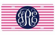 A personal favorite from my Etsy shop https://www.etsy.com/listing/270425091/hot-pink-and-navy-striped-monogrammed
