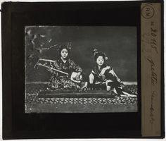 [Plaque de verre du fonds Colbert | EHNE] Japon, petites danseuses