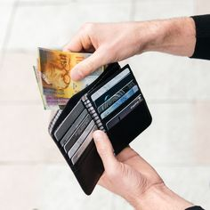 Our men's Bifold Wallet in Black offers plenty of space for cash and cards. Men's Accessories, Calf Leather, Wallet, Space, Cards, Accessories, Floor Space, Men Accessories, Handmade Purses