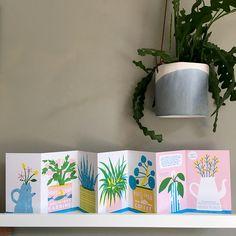 Concertina Book, Book Layout, Handmade Books, Book Binding, Book Journal, Craft Fairs, Zine, House Plants, Book Art
