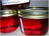crab apple hot pepper jelly... made this over the summer. it was amazing!