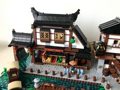 Extending ninjago city docks in japanese traditional style. Lego Ninjago City, Lego City, Lego Factory, Lego Village, Lego Building Blocks, Building Ideas, Lego Boards, Lego Pictures, Lego Architecture