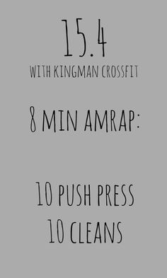 CrossFit Open WOD 15.4 at Kingman CrossFit for 50 States In A Year