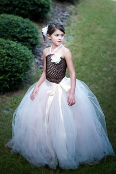 Tulle skirt tutu long tutu skirts flower girl by MirelaOlariu- For Caitlyn's 9th birthday pictures.