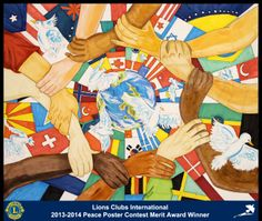 Merit Award Winner, Krisheree Shimamoto, from Hawaii, USA (Makakilo-Kapolei Lions Club) - 2013-2014 Lions Clubs International Peace Poster Contest