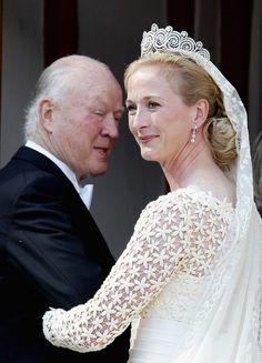 Princess Nathalie of Sayn-Wittgenstein-Berleburg wearing the Khedive of Egypt Tiara.