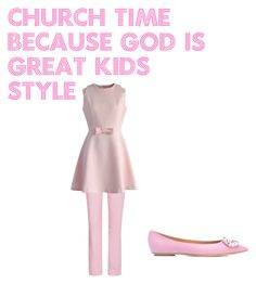 """""""church time because god is great for kids"""" by fashion4pashion101 ❤ liked on Polyvore featuring Jil Sander Navy, Chicwish and Casadei"""