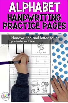 Handwriting and letter sound practice for every letter of the alphabet. Includes: * Upper and lowercase letter practice * A row of traceable letters with arrow guides * Dots to show where each letter begins * A phonics component at the bottom of each page