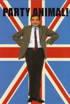 Mr Bean - Party Animal! Mr Bean Birthday, Happy Birthday, Ben Elton, British Party, Richard Curtis, Blackadder, Ben Stiller, Jim Carrey, Animal Party