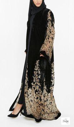 Image of Husna Noir Abaya Pre-order