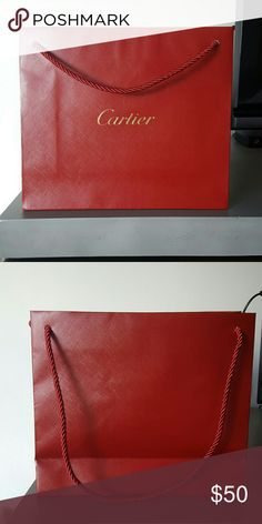 Authentic Cartier Shopping Bag Like new. Carried home once. Cartier Bags Totes