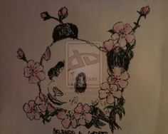 I want this as a foot tattoo Panda Tattoo by ~Mokumaru on deviantART Daddy Tattoos, Sweet Tattoos, Head Tattoos, Time Tattoos, Panda Head, Panda Art, Panda Bear Tattoos, Lion Tattoo, Flower Tattoos