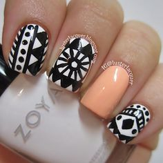 Luster Lacquer: B Tribal/Aztec Nails