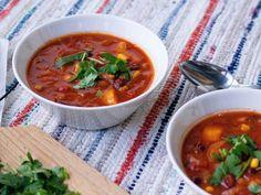 Meksikolainen papukeitto - Ruokakonttuuri Ethnic Recipes, Food, Essen, Meals, Yemek, Eten