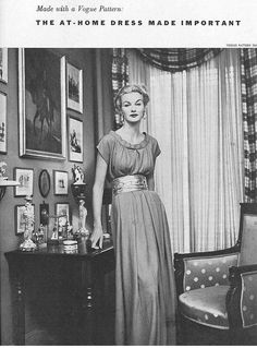 Vogue pattern, November 1952