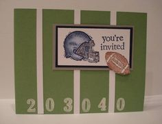 Flag Football party invites by BasketMom - Cards and Paper Crafts at Splitcoaststampers