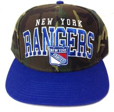 b62cde7f844 NEW YORK RANGERS CAMOUFLAGE SNAPBACK HAT Dark Green Brown Blue Camo Men Women   Reebok  NewYorkRangers