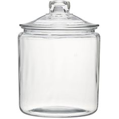 Crate & Barrel Heritage Hill 128 oz. Glass Jar with Lid (€12) ❤ liked on Polyvore featuring home, kitchen & dining, food storage containers, glass food storage containers, beverage container, storage containers, glass drink container and drinking jar