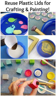 Reuse Plastic Lids for Crafting and Painting! | Deja Vue Designs