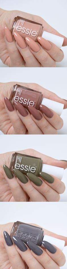 About these nudes! Essie Wild Nudes Collection Review // Talonted Lex