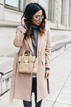 Nude Blush Coat   Winter Fashion